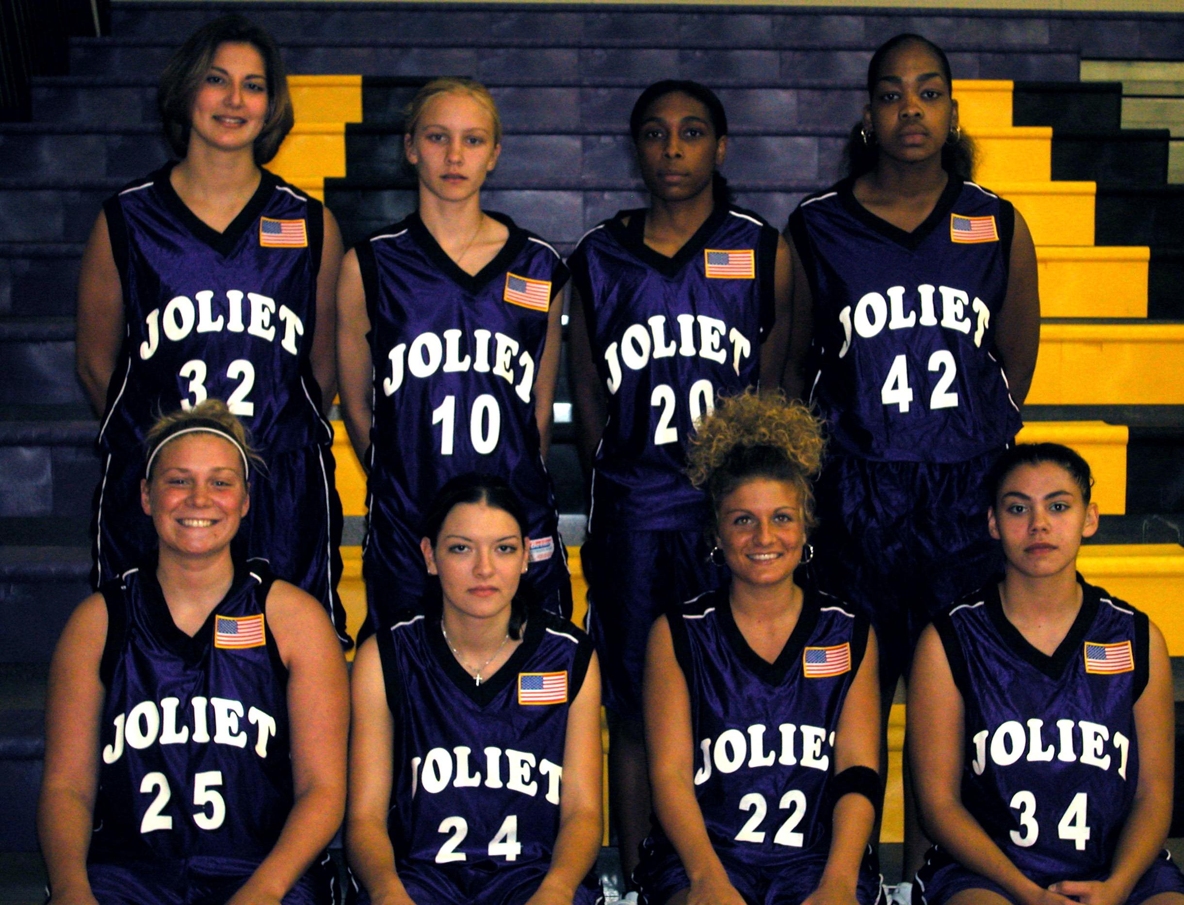 2003-2004 JJC Women's Basketball Celebrating 115 years at Joliet Junior College
