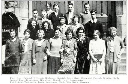 1930 JJC Blazer Staff 115 years students anniversary photo