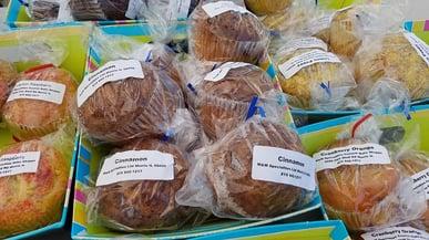 8 great finds at the jjc farmers market joliet junior college cinnamon muffins m&m specialties, ltd