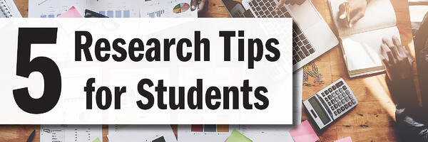 5 Research Tips for students jjc joliet junior college