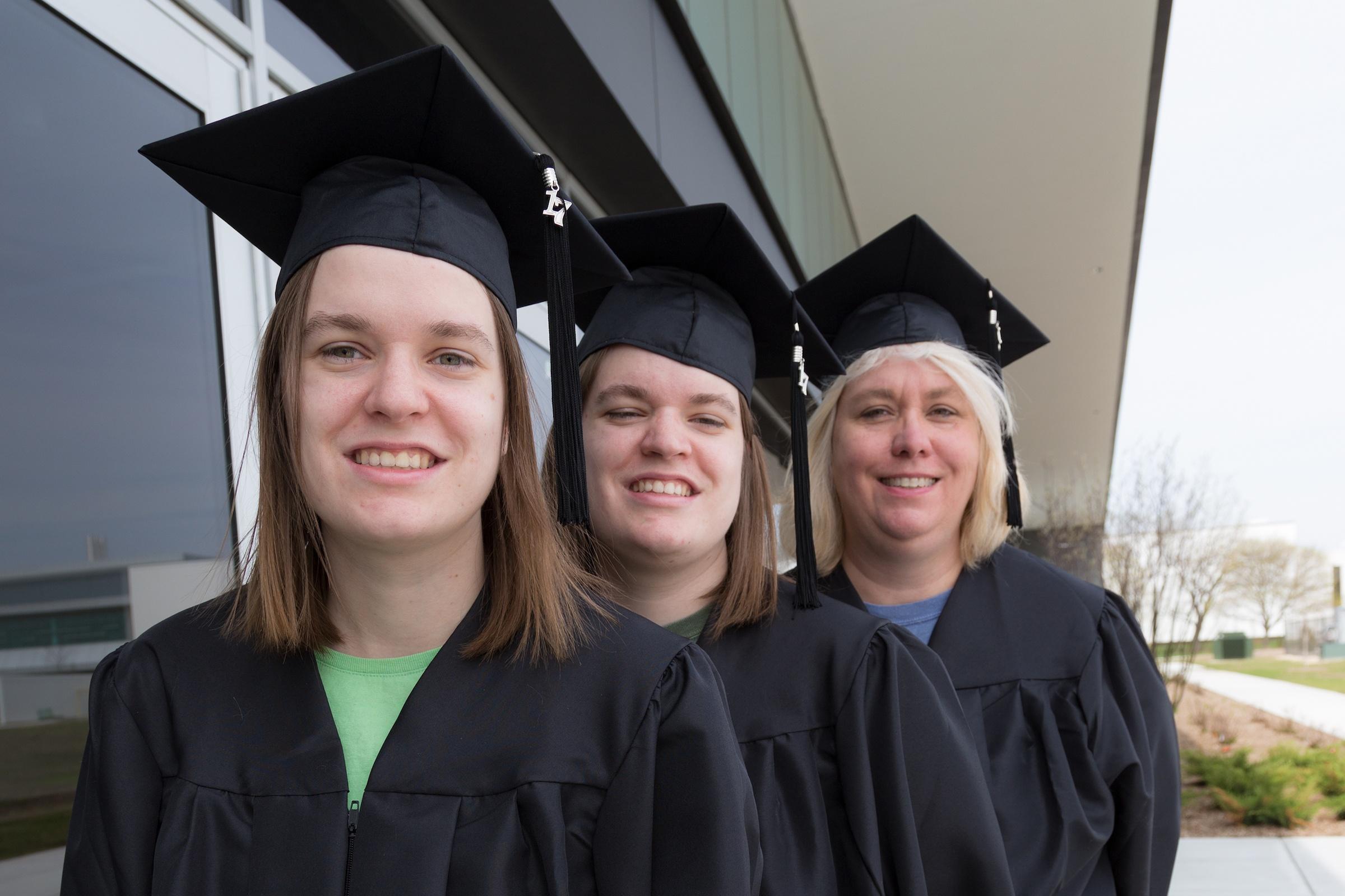 Q&A: The Bopp Family Shares Their Unique Graduation Story Amanda Ashley Audrey caps