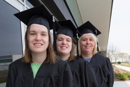 Q&A: The Bopp Family Shares Their Unique Graduation Story Amanda Ashley Audrey caps