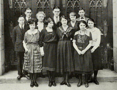 1922 French Club Joliet Junior College JJC 115 years anniversary photo