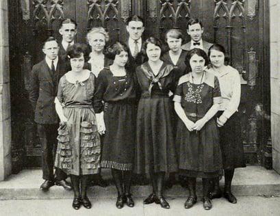 1922 French Club Joliet Junior College JJC 115 years anniversary photo
