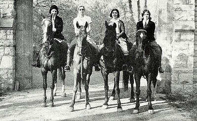 Horesback riding 1931 7 interesting photos discovered in jjc yearbooks joliet junior college