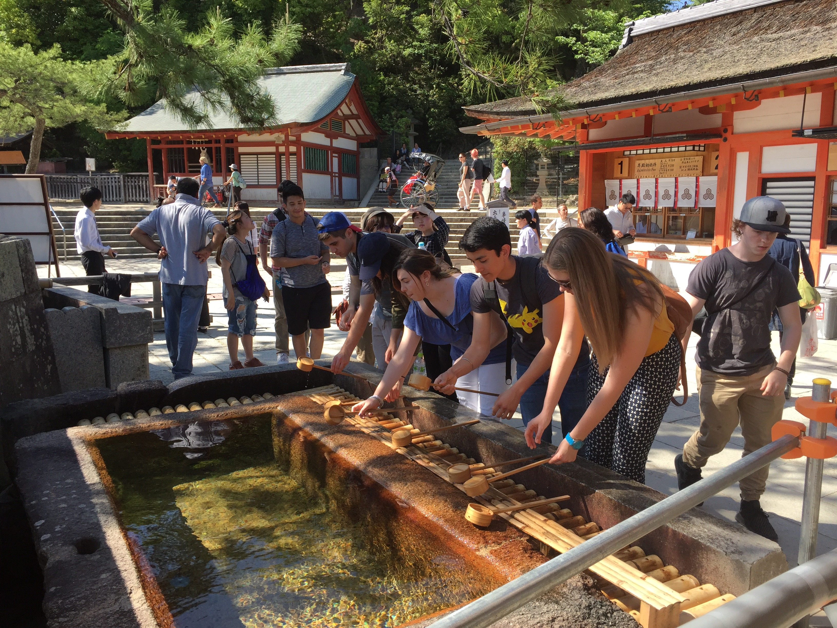 Miyajima Clensing befor entering the shrine a study abroad experience in japan jjc joliet junior college