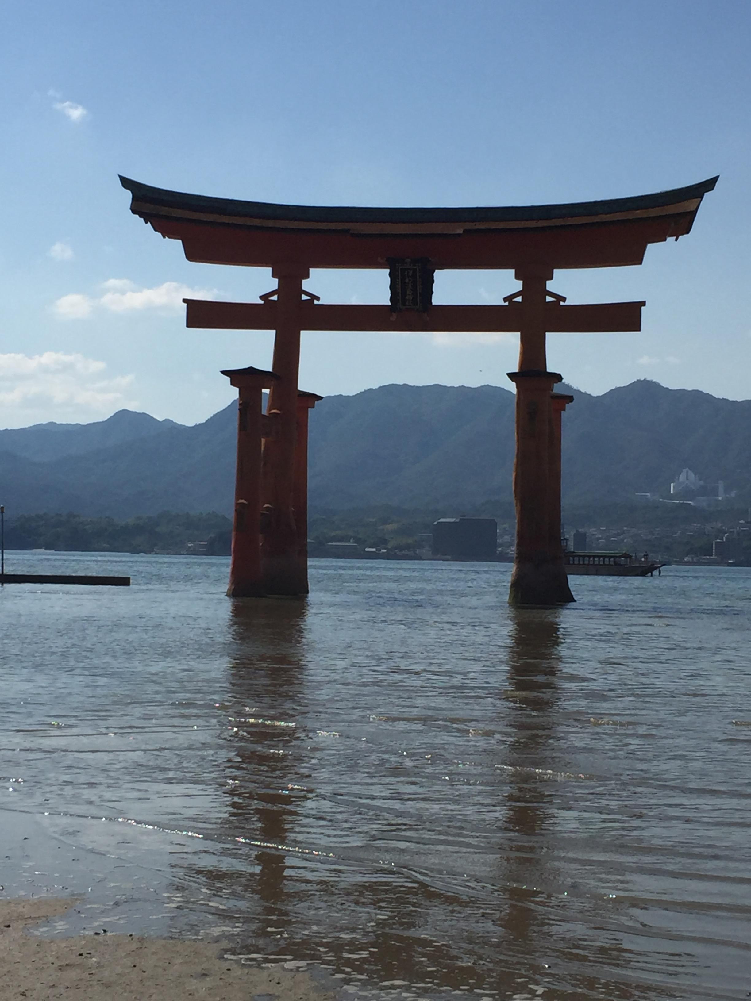 Miyjima Shinto Shrine Torii Gate a study abroad experience in japan jjc joliet junior college
