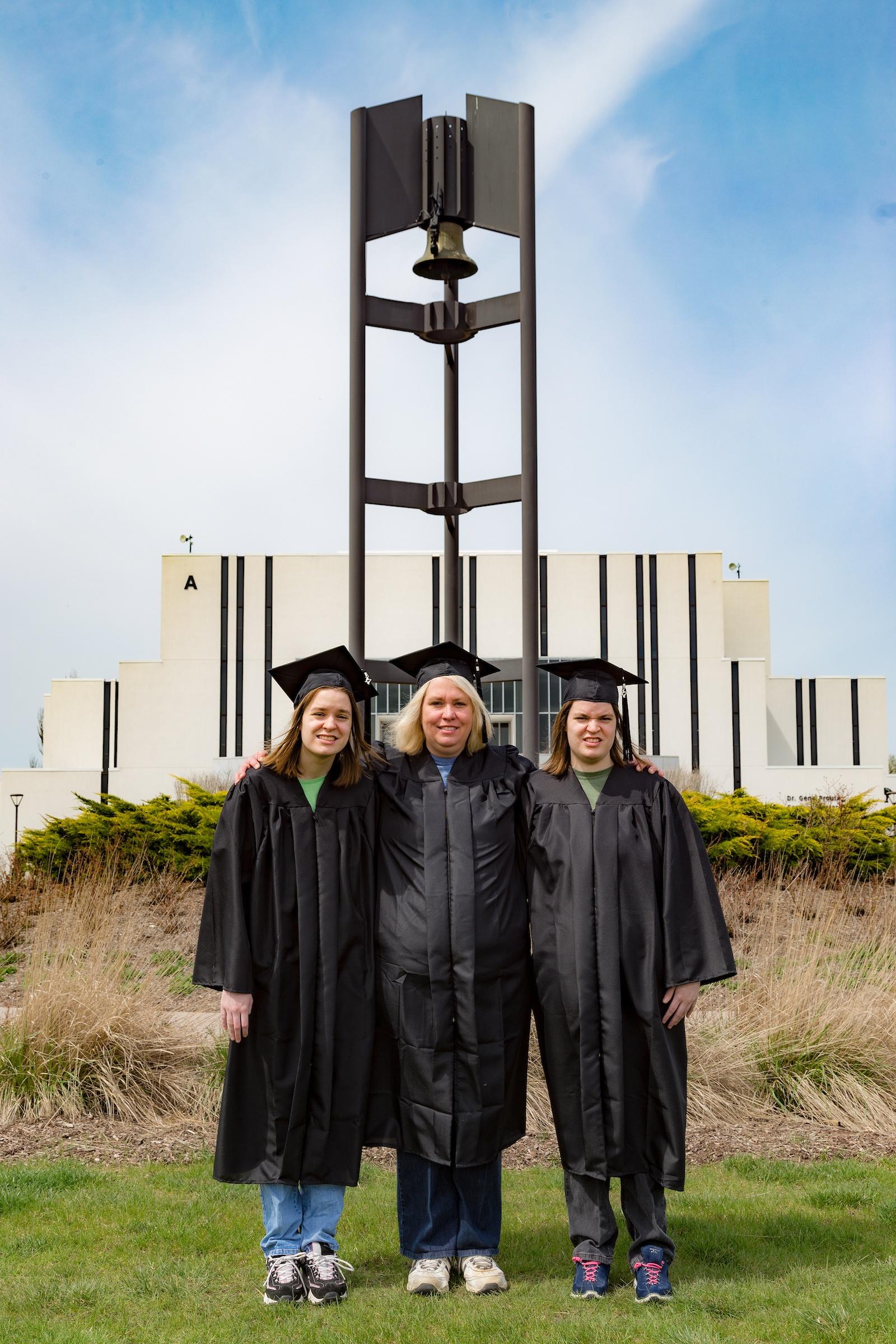 Q&A: The Bopp Family Shares Their Unique Graduation Story Amanda Ashley Audrey bell tower campus center