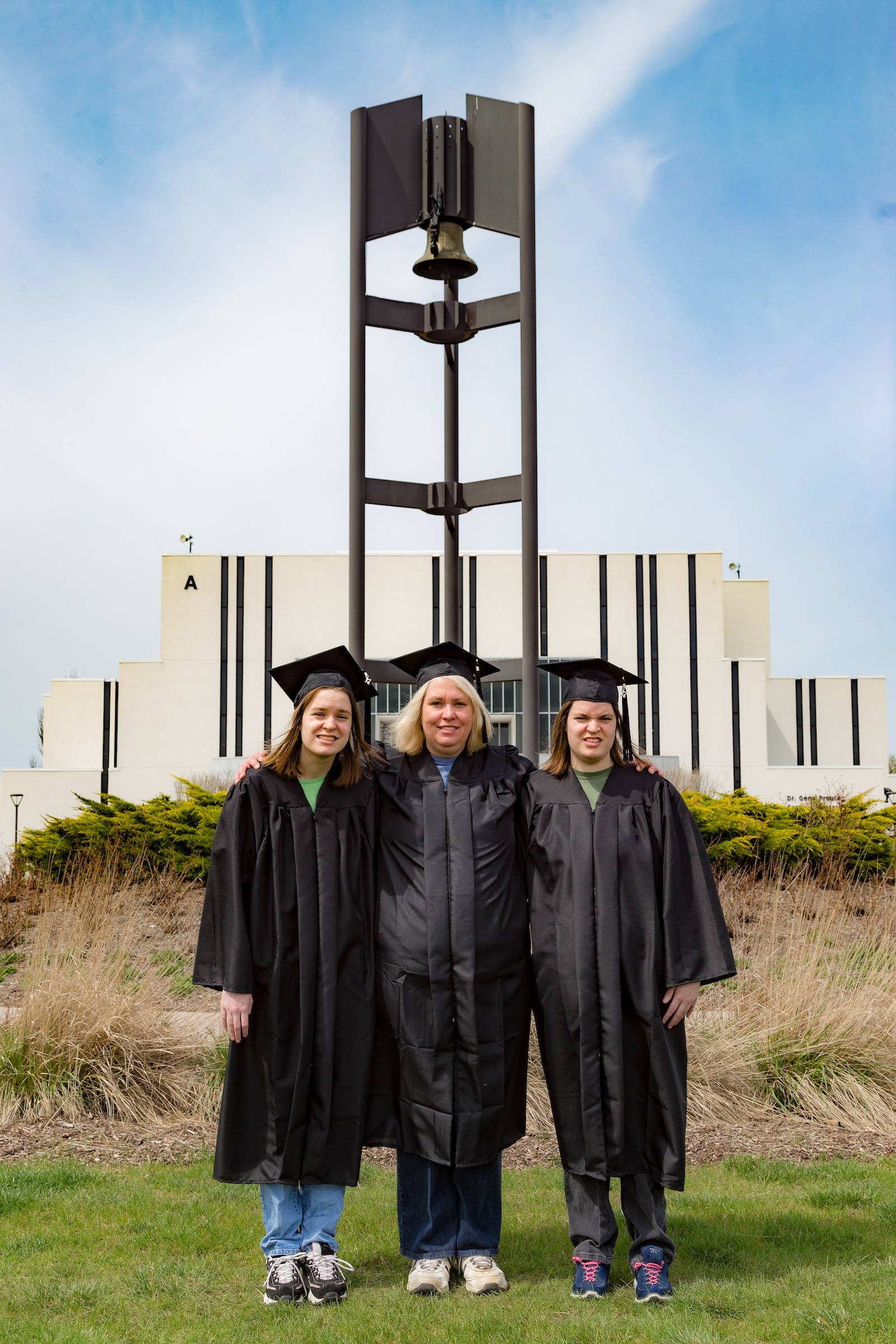 Q&A: The Bopp Family Shares Their Unique Graduation Story Amanda Ashley Audrey bell tower campus center
