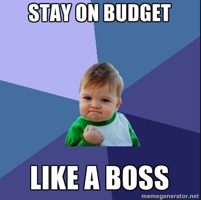 money saving hacks banner stay on budget like a boss meme  jjc joliet junior college