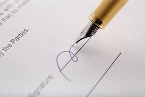 close up signature