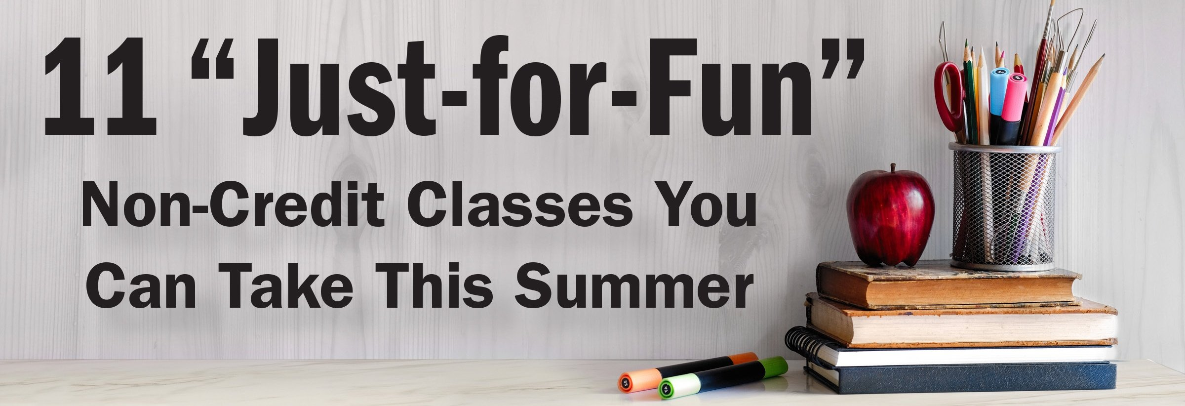 just for fun classes banner