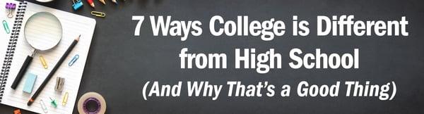 7 ways college diff hs