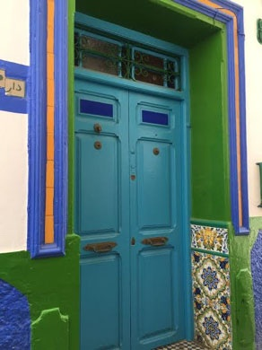 jjc students study abroad in morocco asilah building door colorful joliet junior college