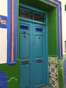 jjc students study abroad in morocco asilah building door colorful joliet junior college