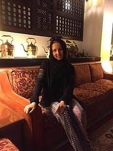 jjc students study abroad in morocco elizabeth wearing hijab tangier
