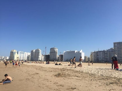 jjc students study abroad in morocco beach in tangier