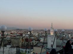 jjc students study abroad in morocco view from rooftop cafe tangier joliet junior college