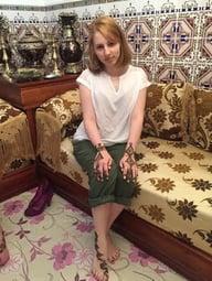 jjc students study abroad in morocco elizabeth mchugh henna tattoo
