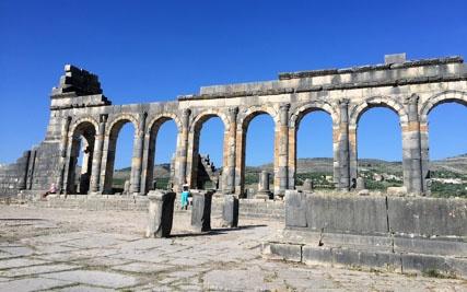 jjc students study abroad in morocco joliet junior college roman ruins volubilis