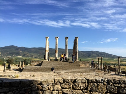 jjc students study abroad in morocco joliet junior college roman ruins volubilis