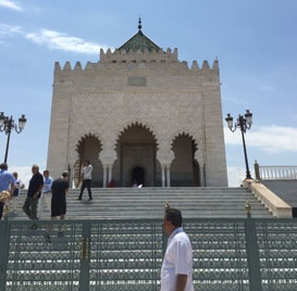 jjc students study abroad in morocco hassan tower rabat joliet junior college