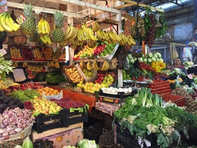 jjc students study abroad in morocco fruit stand joliet junior college