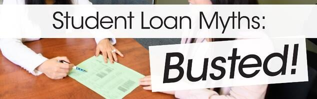 student loan myths busted banner jjc joliet junior college