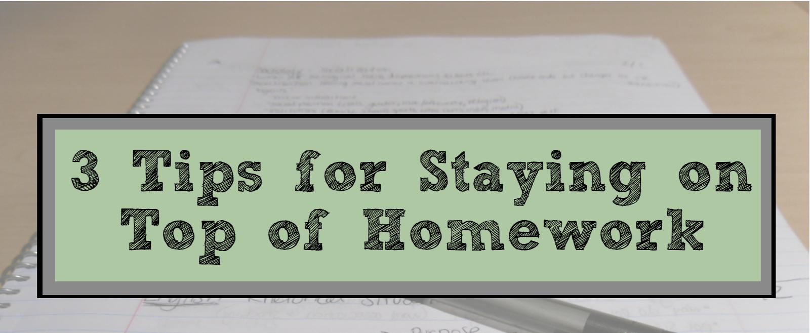 JJC homework tips