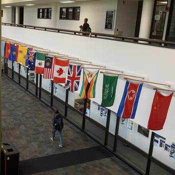 c concourse flags insta10 instagram worthy shots around campus . jjc joliet junior college c flags