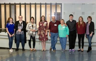 esworthys with students recipients